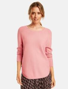 Pullover mit dekorativen Knöpfen Pink 40/M