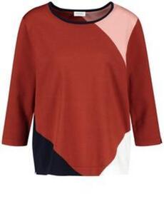 Pullover mit Patchoptik Mehrfarbig 38/S
