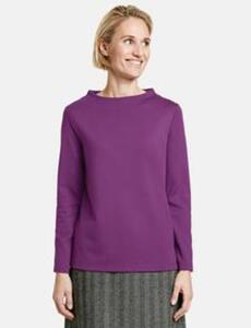 Sweatshirt mit Lift Up Kragen Lila 46/L