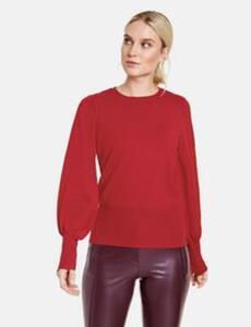 Pullover mit Ballonärmeln Rot 46/L