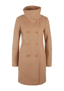 Damen Wollmix-Mantel mit High Neck