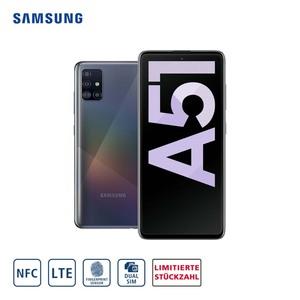 Smartphone Galaxy A51 A515F • 4-fach Hauptkamera mit Weitwinkel-,Ultraweitwinkel-, Makro- und Bokeh-Objektiv (48 MP + 12 MP + 5 MP + 5 MP) • 32-MP-Frontkamera • 4-GB-RAM, bis zu 128 GB interner