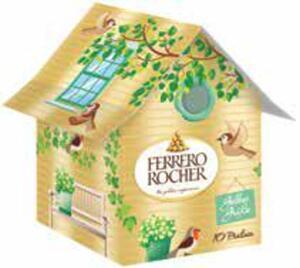 Ferrero Vogelhäuschen Aktion gefüllt mit Pralinen