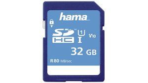 Hama SDHC 32GB Class 10 UHS-I 80MB/S