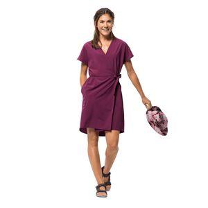 Jack Wolfskin Victoria Dress Wickelkleid Frauen XS violett wild berry
