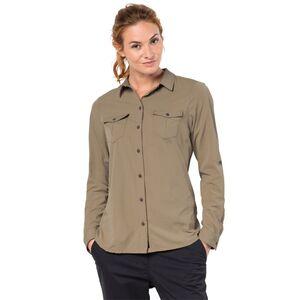 Jack Wolfskin Atacama Roll-up Shirt Women Bluse XL braun sand dune