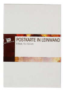 Paper Scrip Leinwand in Postkartengröße - 8er-Set