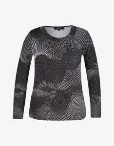 Bexleys woman - Langarmshirt mit Strassbesatz am Ausschnitt