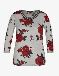 Bexleys woman - florales Shirt mit V-Ausschnitt