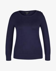 Bexleys woman - Pullover mit Zierknöpfen auf der Schulter
