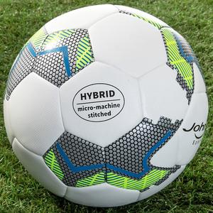 John Hybrid-Fußball - Weiß/Grau/Gelb/Blau