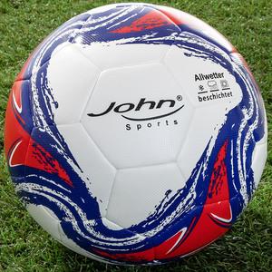 John Hybrid-Fußball - Weiß/Blau/Rot