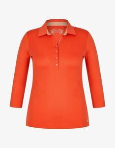 Bexleys woman - einfarbiges Poloshirt mit 3/4 Arm