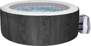 LAMAR Whirlpool VANCOUVER für bis zu 6 Personen 204 x 70 cm Holzoptik