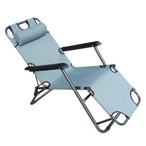 Never Indoor Strandstuhl mit weich gepolsterten Kissen SLOS01-GRA grau