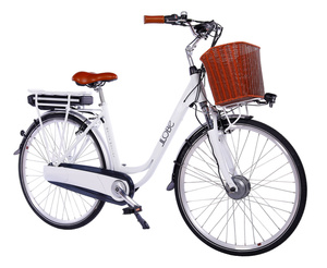 "LLobe City-E-Bike 28"" White Motion 2.0 36V / 15,6Ah"