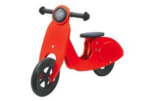 JAMARA Laufrad Holz Roller rot