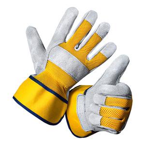 Kraft Werkzeuge Leder-Arbeitshandschuhe, Größe 11 - Gelb
