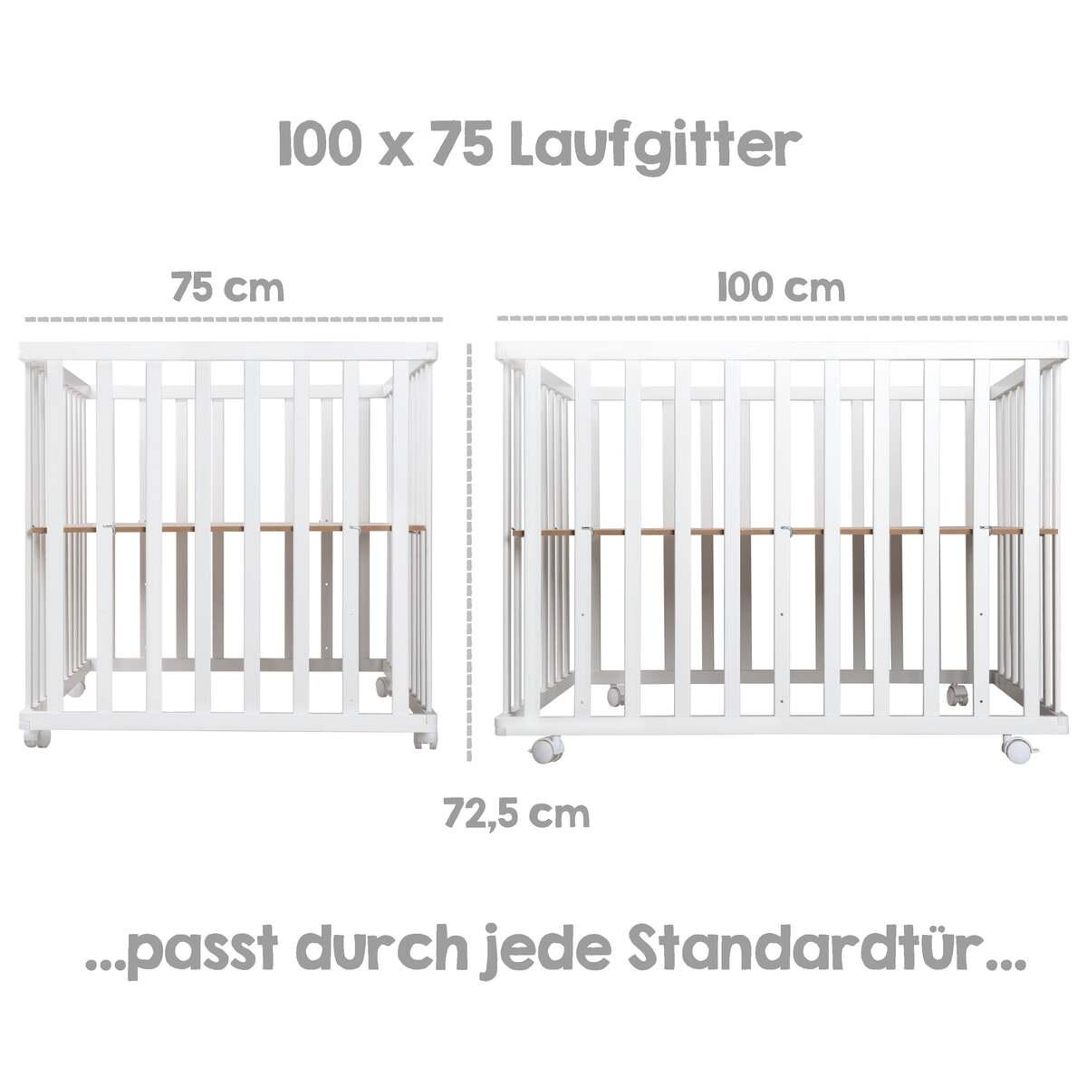 Bild 2 von roba 4-eckiges Laufgitter Style türkis, weiß lackiert
