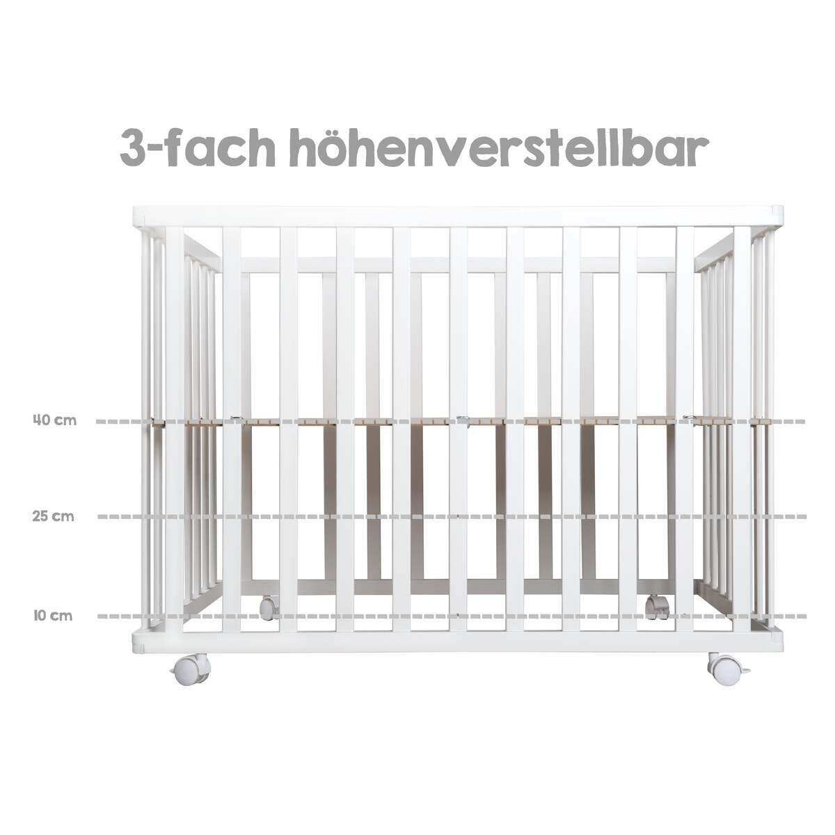 Bild 3 von roba 4-eckiges Laufgitter Style türkis, weiß lackiert