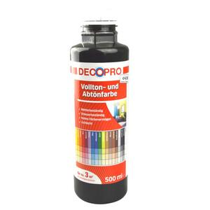 DecoPro Vollton und Abtönfarbe 500 ml schwarz innen und außen