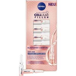 NIVEA Hyaluron Cellular Filler Elastizität + Kontur Anti-Age 2-Phasen Ampullen Kur