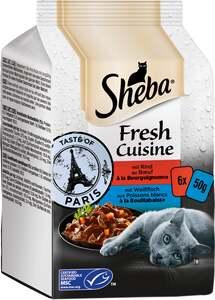 Sheba Fresh Cuisine Taste of Paris mit Rind und mit Weißfisch Multipack