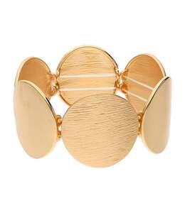 accessories Elastisches Armband mit strukturierten Metallplatten