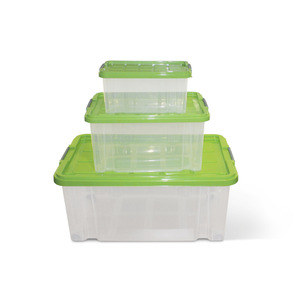 Aufbewahrungsboxen-Set mit Deckel, 5/14/45 l, 3-teilig