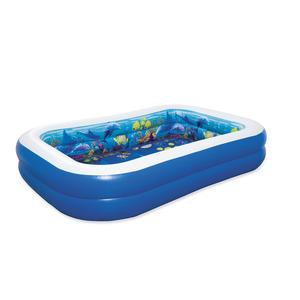 Planschbecken 'Family Pool 3D Undersea Adventure' blau 262 x 175 x 51 cm