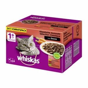 Whiskas Adult 1+ Sauce 24x100g Klassische Auswahl
