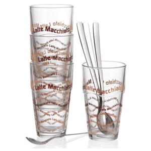 Ritzenhoff & Breker Latte Macchiatoglas Lena 370ml 4 Stück klar, Transparent