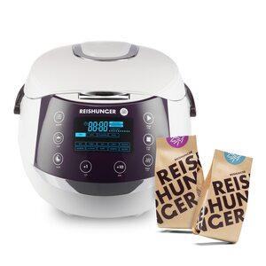 Digitaler Reishunger Reiskocher Bundle, 860W, 1,5l DRK Bundle weiß, Glutenfrei