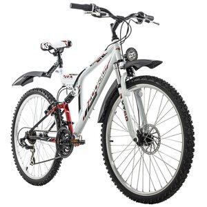 KS Cycling Mountainbike Fully ATB 21 Gänge Zodiac 26 Zoll für Herren, Größe: 48, Weiß
