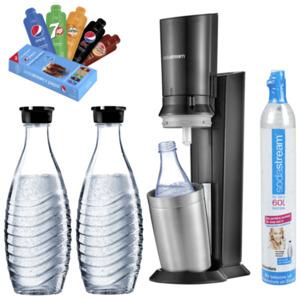 SodaStream Crystal Titan mit Sirup-Proben und 3 Karaffen
