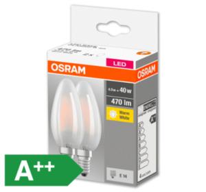 OSRAM LED-Kerzen, E14/40 W, 470 lm, matt