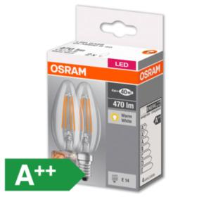 OSRAM LED-Kerzen, E14/40 W, 470 lm, klar