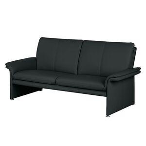 home24 Modoform Sofa Capri 2,5-Sitzer Anthrazit Echtleder 196x90x88 cm (BxHxT) Modern