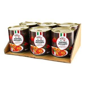 Mondo Italiano Ravioli Piccanti 800 g, 6er Pack