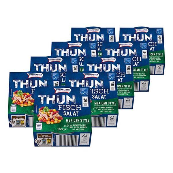 Dreimaster Thunfischsalat Mexican Style 160 g, 9er Pack