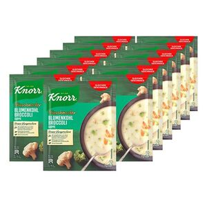 Knorr Feinschmecker Blumenkohl Broccoli Suppe ergibt 0,5 Liter, 13er Pack