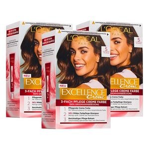 L'oreal Excellence hellbraun, 3er Pack