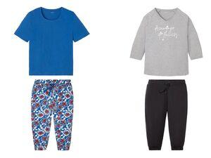 ESMARA® Pyjama Damen, mit seitlichen Eingrifftaschen