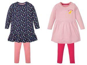 LUPILU® Kleinkinder Mädchen Set, mit Kleid und Leggings