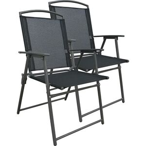 VCM Set Gartenstuhl Stühle Stuhl Metall Textilene klappbar