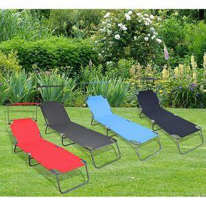 VCM Sonnenliege Gartenliege Relaxliege Liege Liegestuhl Sonnendach