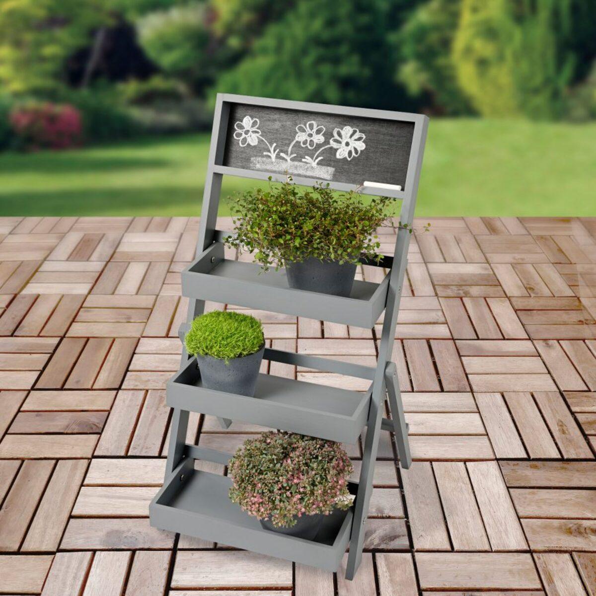 Bild 5 von LIVING ART     Deko-Holztreppe für Pflanzen