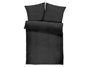 Face-2-Face Satin Bettwäsche »Uni Streifen night black«,  Reißverschluss, Baumwolle