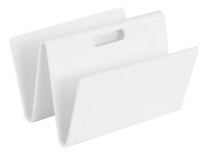 Zeitungsständer Klaro aus Schichtholz in Weiß