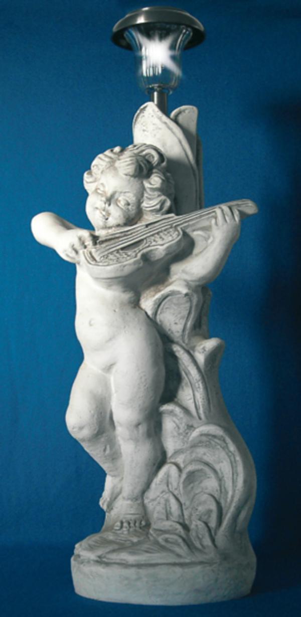 Solarleuchte Putte mit Geige 77 cm